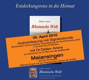 Plakat für das Maiansingen 2010 in Kessenich