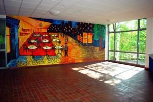 Foyer der 5. Gesamtschule in Bonn