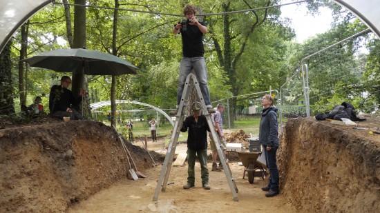 Archäologische Ausgrabung des Walls. Foto: E. Claßen, LVR-Amt für Bodendenkmalpflege